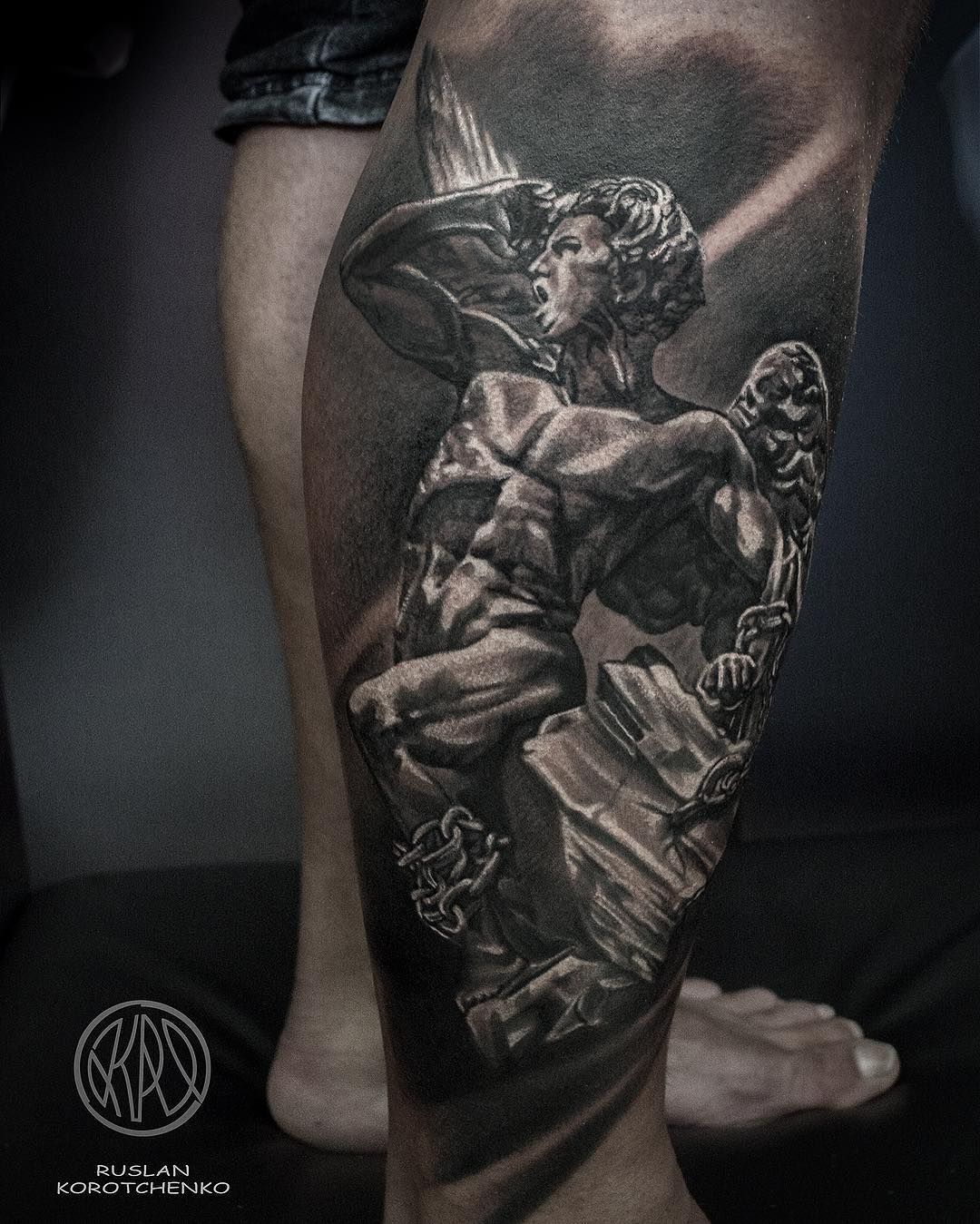Angel tattoo by @rus_tattoos