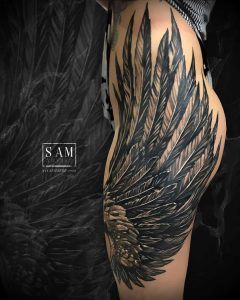 Angel tattoo by @samartoficial