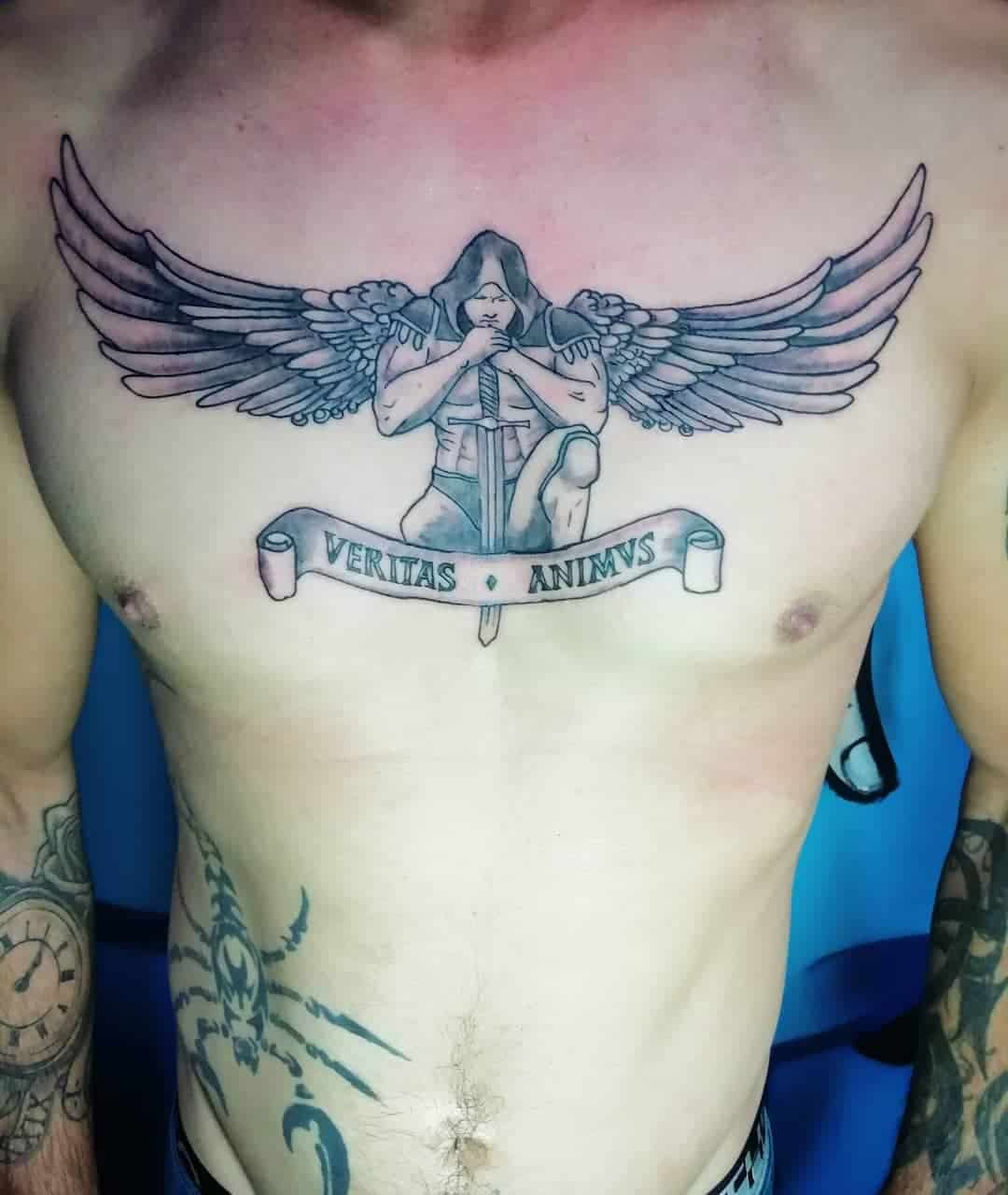Angel tattoo by @southeasttattooshop