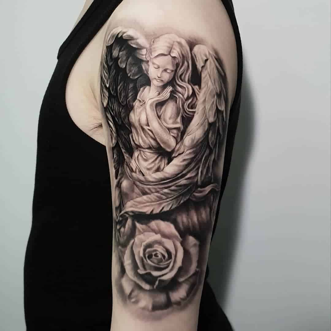 Angel tattoo by @tpark_tattoo