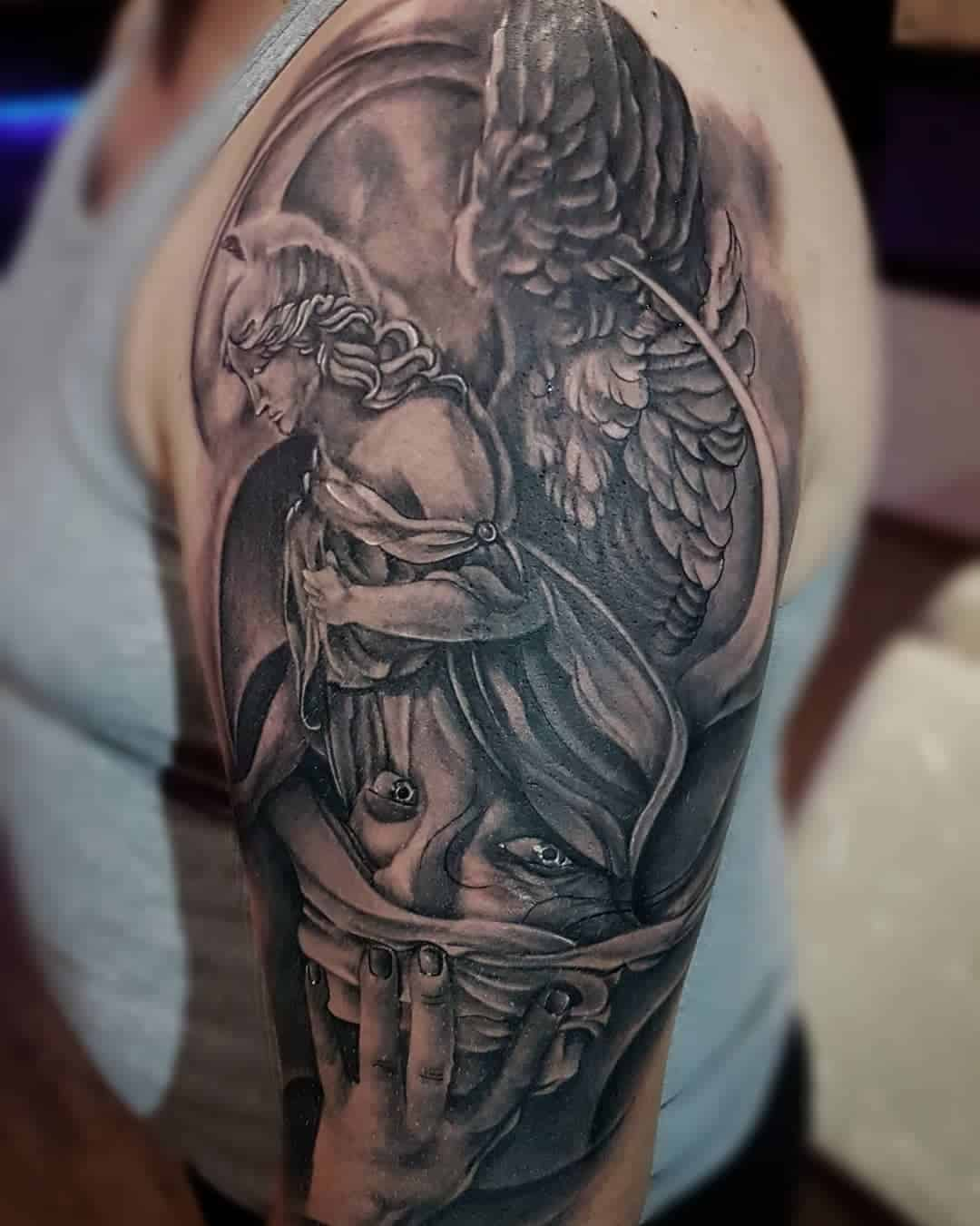 Tattoo angel by @gribowsky