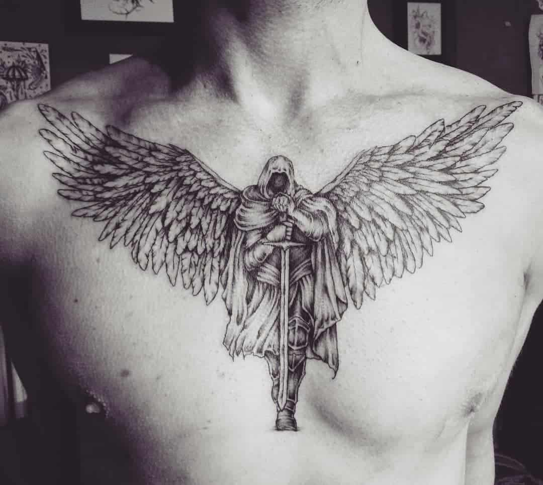 Tattoo angel by @isia_marysia
