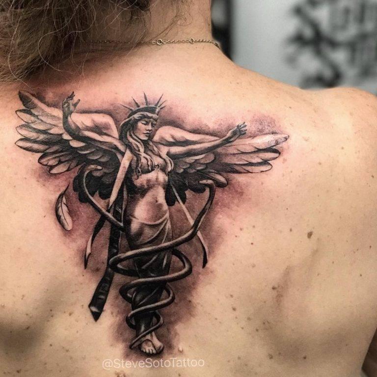 Tatuajes con ángeles: significado, imágenes y consejos