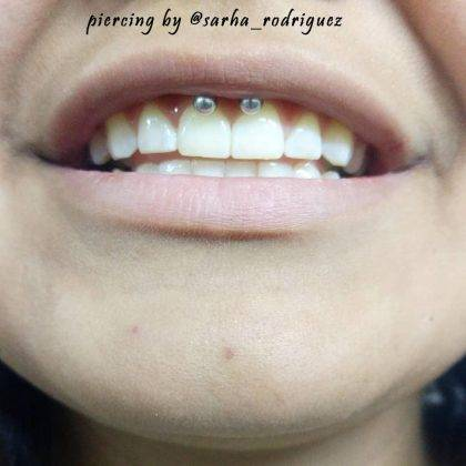 smiley piercing by @sarha_rodriguez