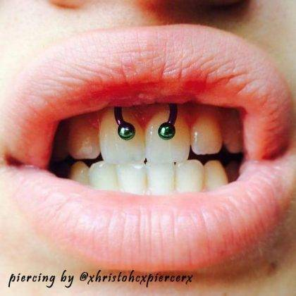 smiley piercing by @xhristohcxpiercerx