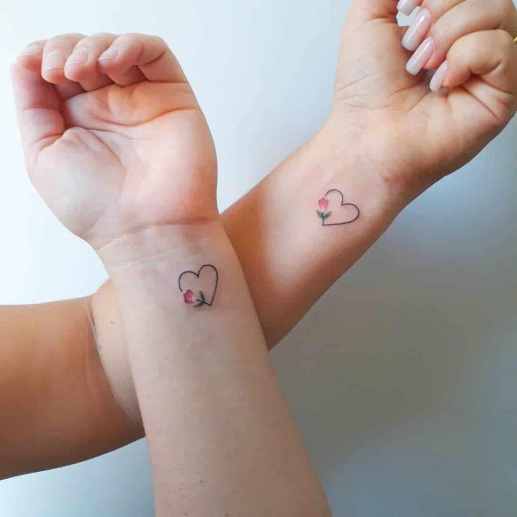coppia tattoo cuore by @firmezatattoo