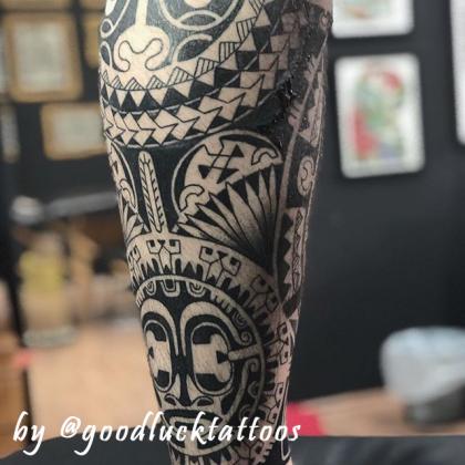 tattoo-maori-polpaccio-by-goodlucktattoos