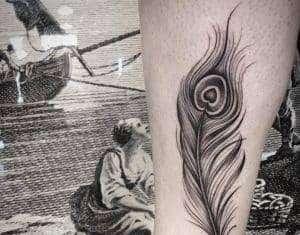 tatuaggio piuma
