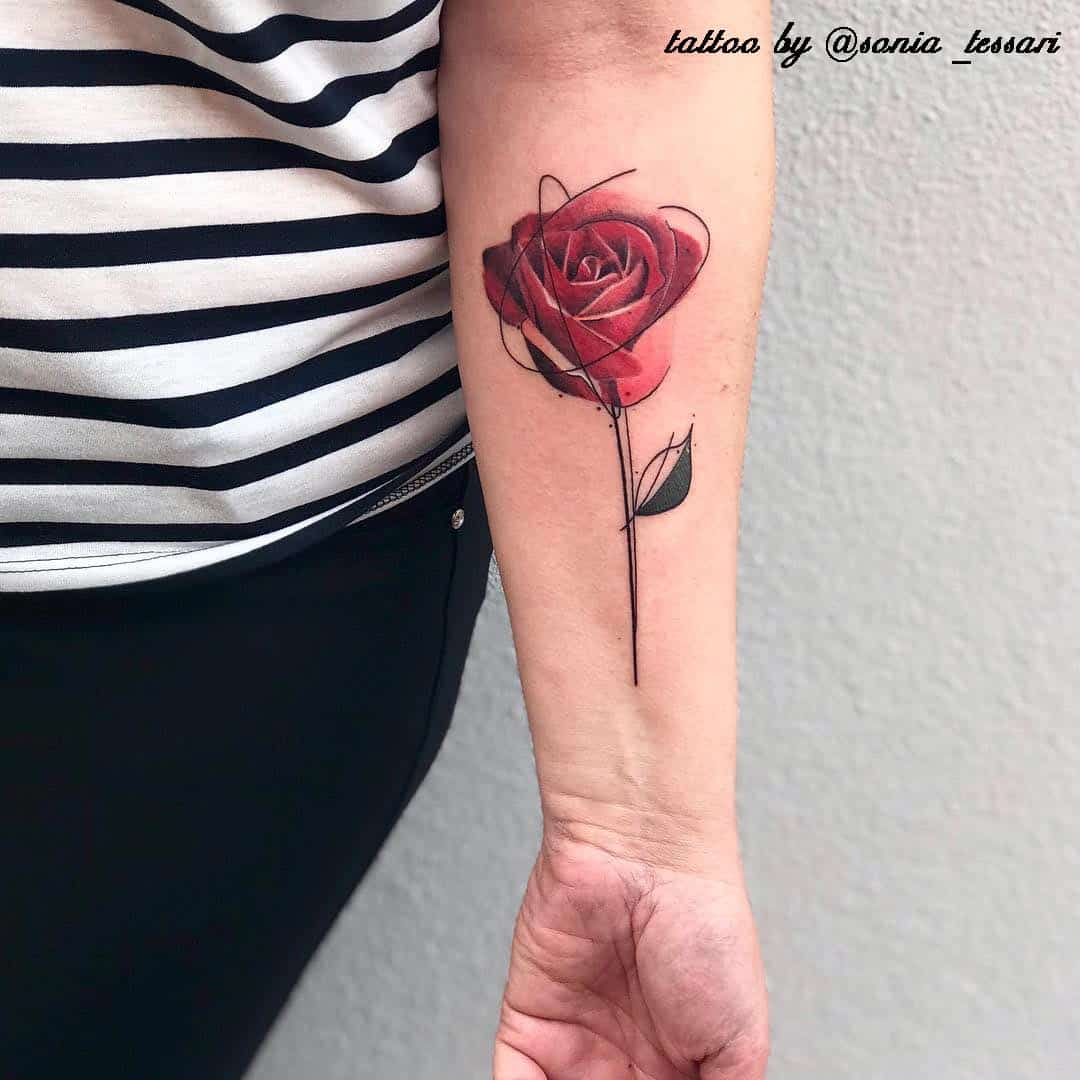 tatuaggi rose tattoo by @sonia_tessari