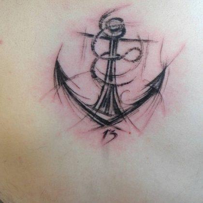 Anchor Tattoo stilizzata