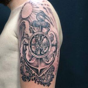tatuaggio ancora braccio