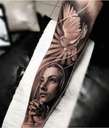 Tattoo vergine Maria