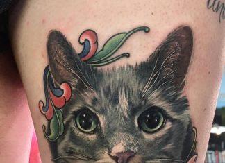 Tatuaggio gatto by @megan_massacre