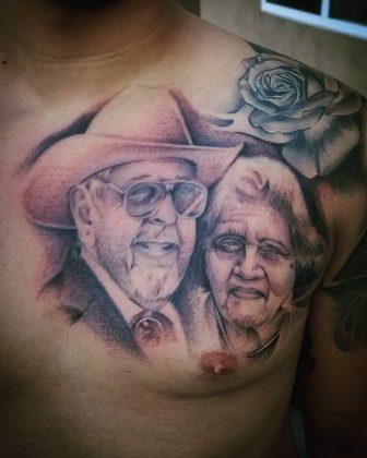 Tattoo ritratto nonni