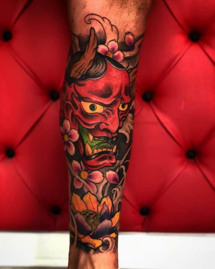 Tatuaggi Demoni Oni by @simone_pettorossi_tattoos