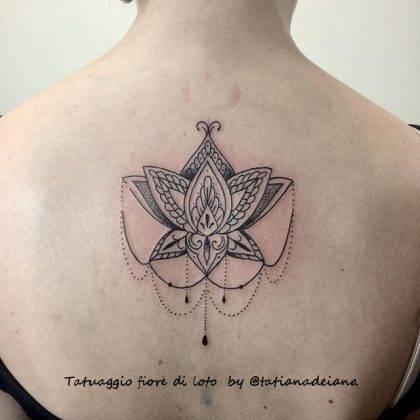 tattoo fiore di loto mehndi bytatianadeiana