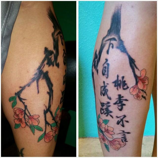 tattoo fiore di pesco by @akimicoco