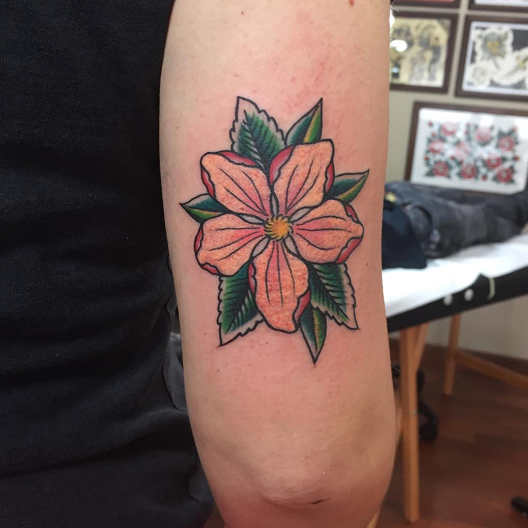 tattoo fiore di pesco by @cardinali.l.m_fct