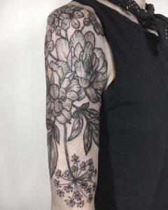 tattoo fiore di pesco by @koreanhammer