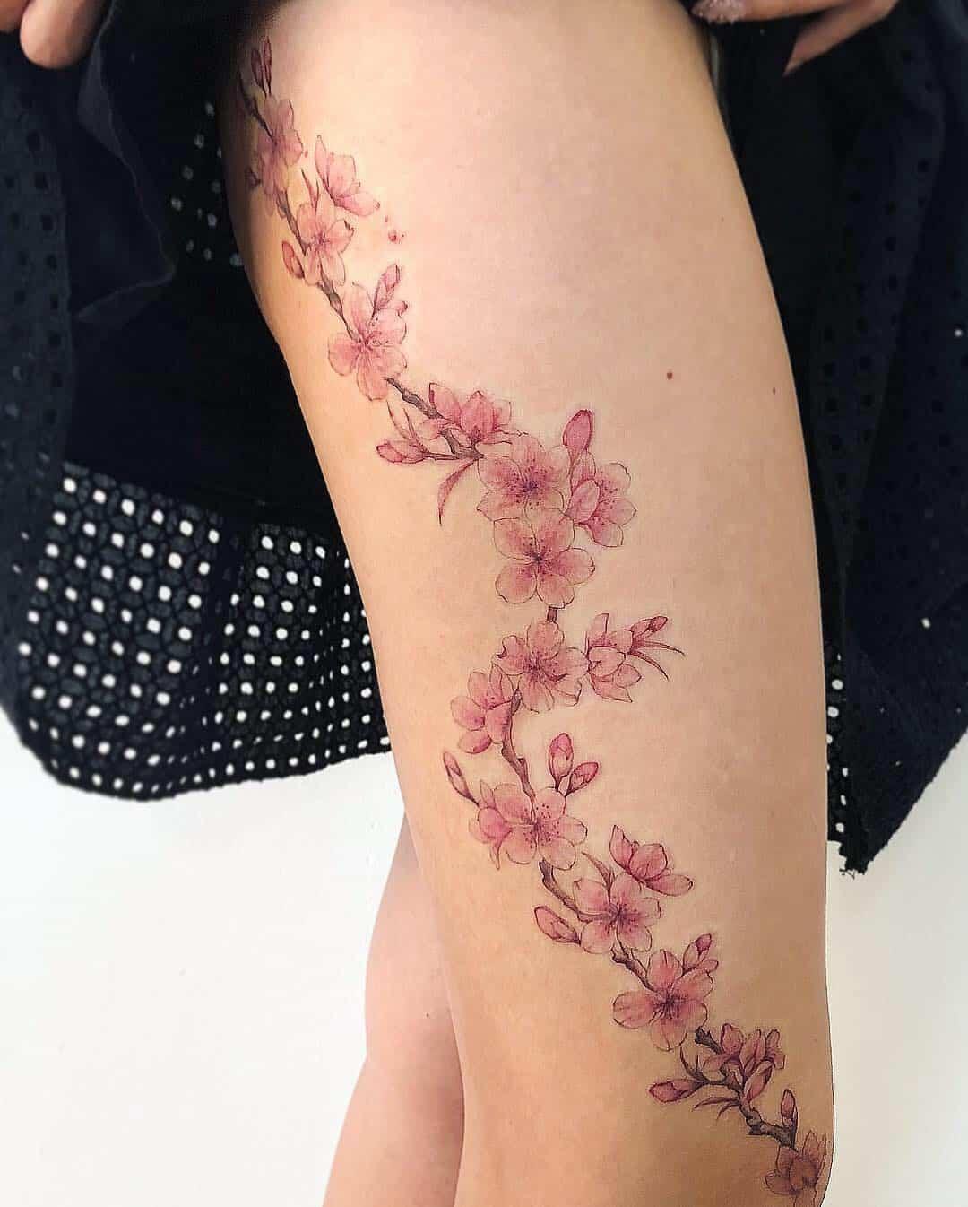 tattoo fiore di pesco by @tattoojune