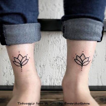tattoo fiori di loto coppia by @marchateaux