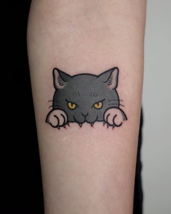 tattoo-gatto-by-@loveyoon.too_