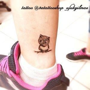 gufo tattoo by @3xtattooshop_ufukyilmaz