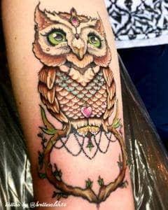 gufo tattoo by @brettwalsh84