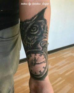 gufo tattoo by @tattoo_kasper