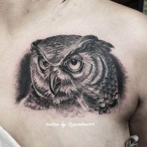 gufo tattoo by @piratearrrt