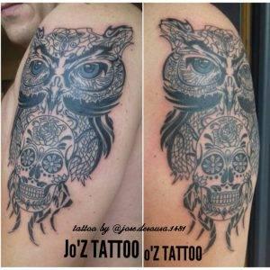 gufo tattoo by @jose.desousa.1481