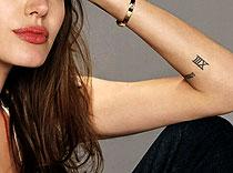 roman numbers tattoo phocredit @freetattoodesigns.org