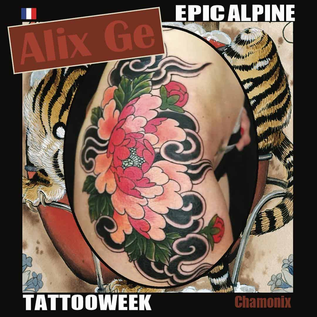 tattoo giapponese nuvola by @epic_alpine_tattoo