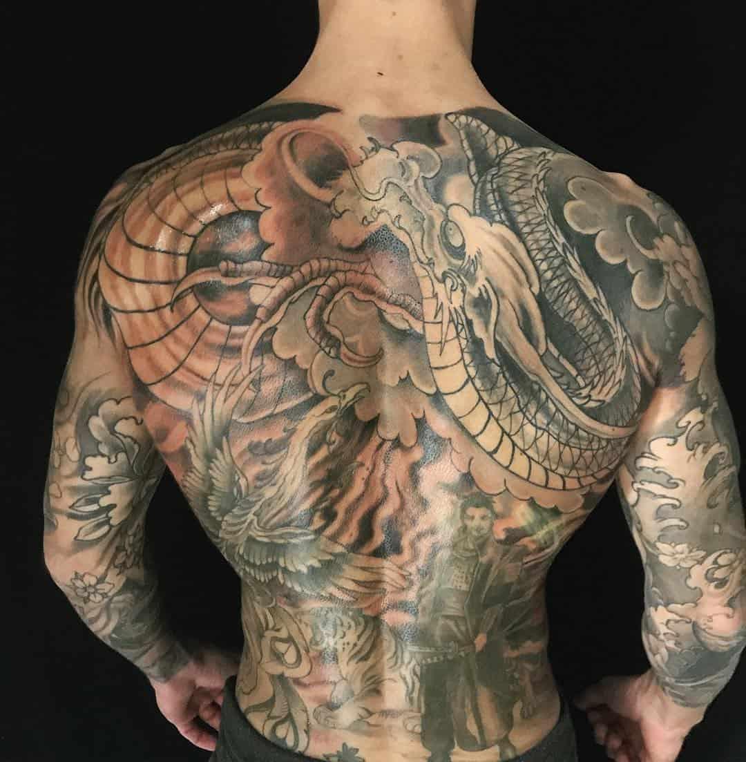 tattoo giapponese nuvola by @lukeredtattoo