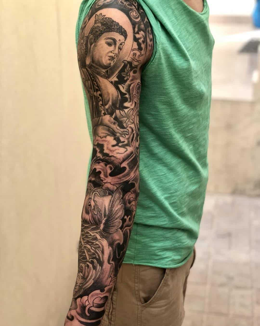 tattoo giapponese nuvola by @rupesh_t_magar
