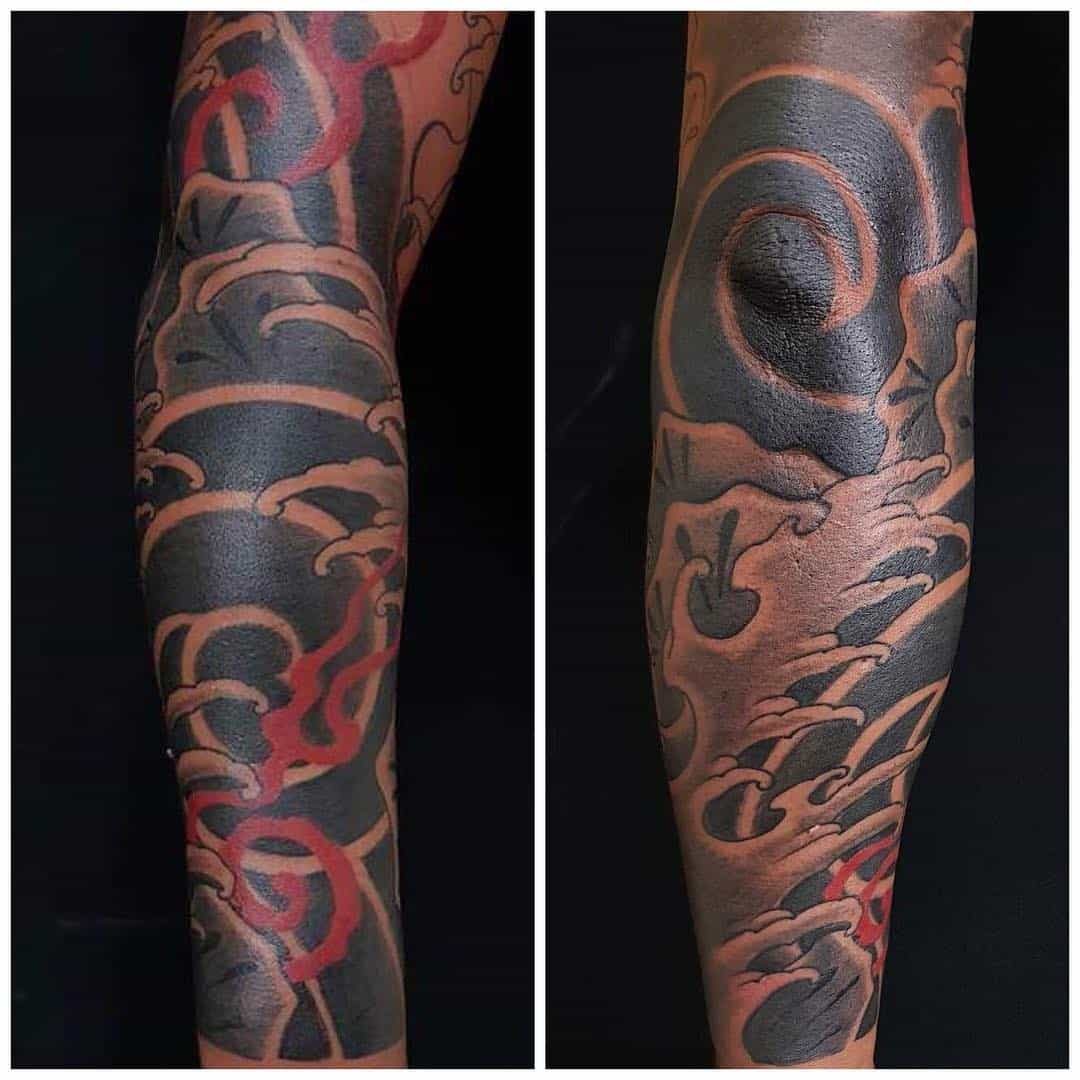 tattoo giapponese nuvola by @stefanomorettitattoo