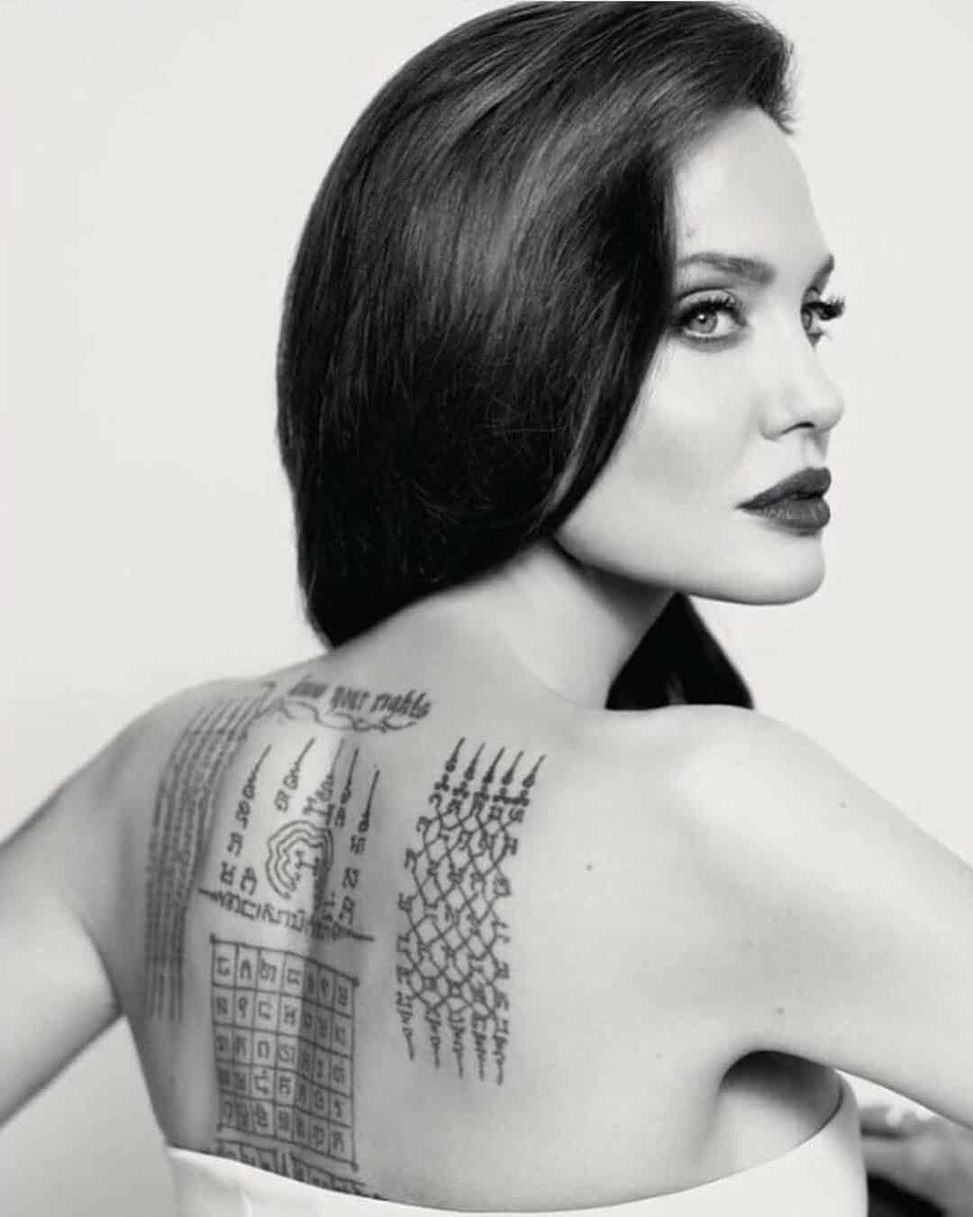 tattoo schiena Sak Yant by @ajannookanpai.eng