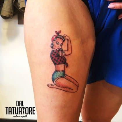 Tattoo pin-up