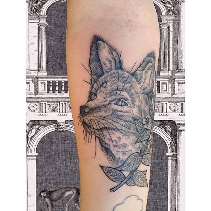 tatuaggio volpe