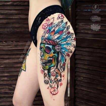 tattoo teschio nativi americani