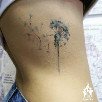 tatuaggiio soffione blu by @squamificio_tatuaggi