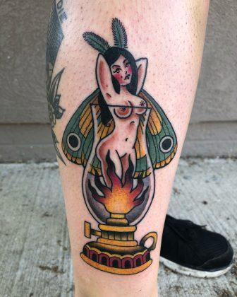 tattoo farfalla pin up by @ginnymarietattoos