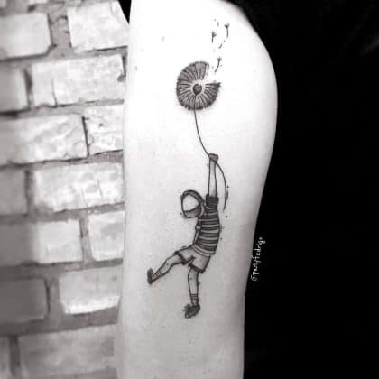 tatuaggio soffione liberta by @patyfedrigo