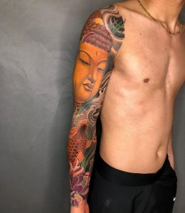 buddha tattoo by @_trungkien.91