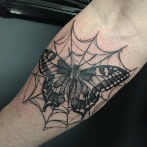 butterfly-tattoo-spiderweb-by-@kobalt.sk_