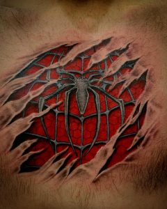 spider-man-tattoo-petto-by-@ldmtattoo