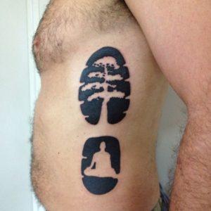 tatto bodhi tree by @dharmatattoostudio