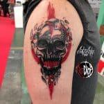 Teschio tattoo by @reddroptattoo