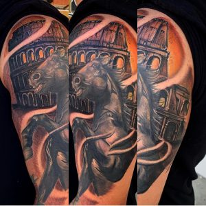 horse-tattoo-colosseo-by-@inknart_ofaustincw