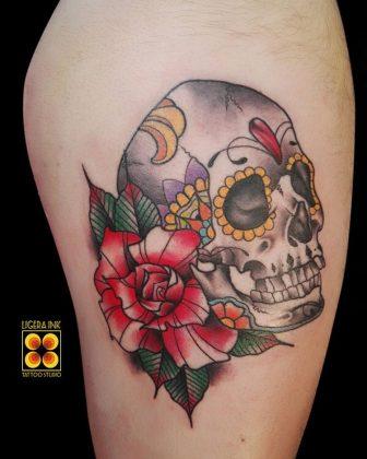 Tattoo teschio chicano